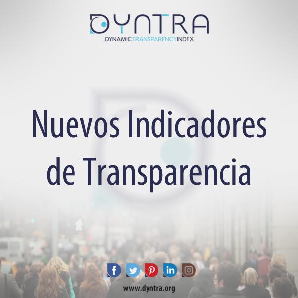 🆕 Nuevos indicadores de Transparencia en Dyntra‼️
