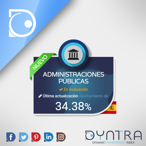 The Spanish Public Administrations under examination in the same Ranking