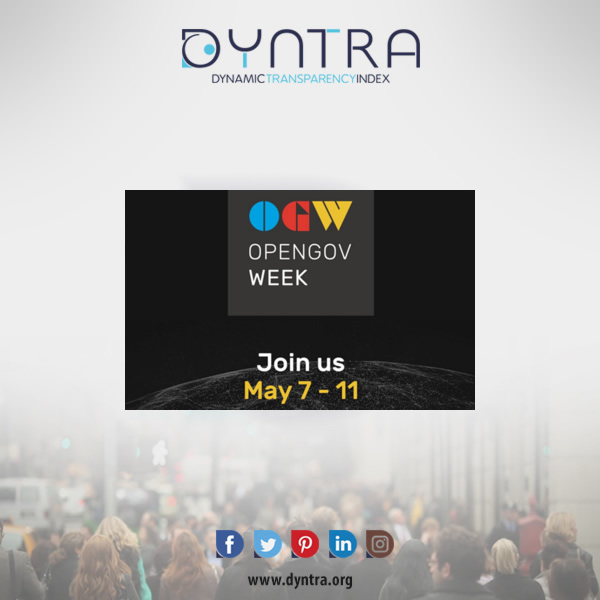 Dyntra participates in the OpenGov Week 2018
