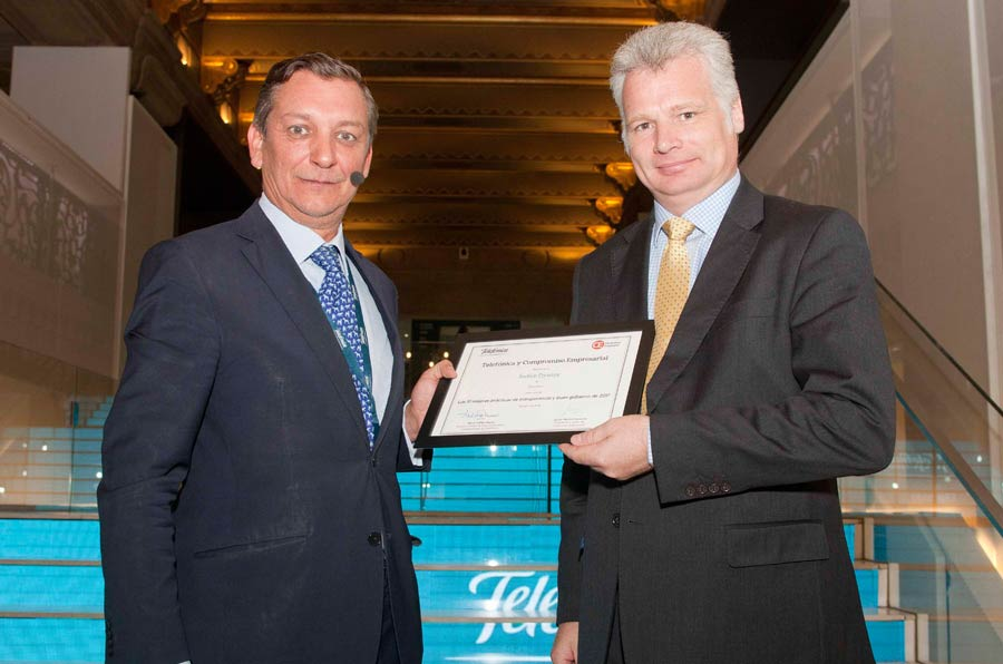 Dyntra reçoit le prix Telefonica