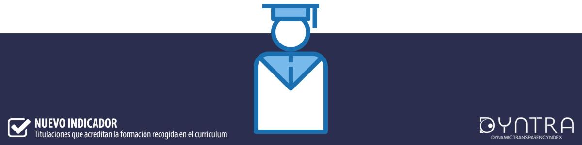 Dyntra añade un indicador que evalúa la publicación de las titulaciones de los cargos políticos