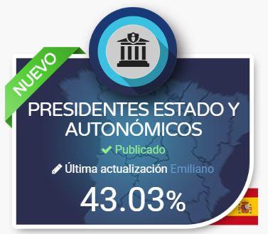 La Plataforma Dyntra evalúa la Transparencia de los Presidentes de Gobierno del Estado y Autonómicos